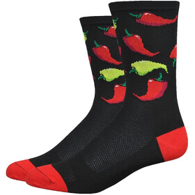 "DeFeet Aireator 6"" Socks Scoville (Black/Red)"
